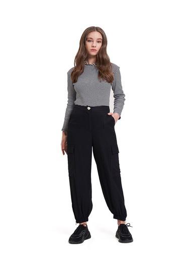 Mizalle Youth Aerobin Kargo Pantolon Siyah